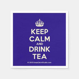 Keep Calm and Drink Tea Paper Serviettes