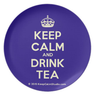 Keep Calm and Drink Tea Party Plates