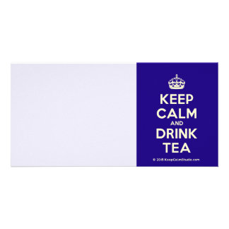 Keep Calm and Drink Tea Personalized Photo Card