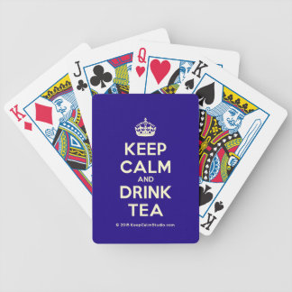 Keep Calm and Drink Tea Playing Cards