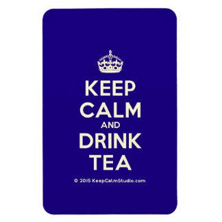 Keep Calm and Drink Tea Rectangular Photo Magnet