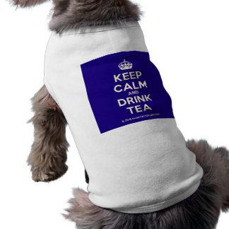 Keep Calm and Drink Tea Sleeveless Dog Shirt