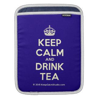 Keep Calm and Drink Tea Sleeves For iPads
