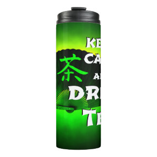 keep calm and drink tea thermal tumbler