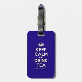 Keep Calm and Drink Tea Travel Bag Tags