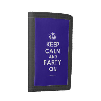 Keep Calm and Drink Tea Trifold Wallets