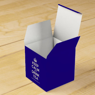 Keep Calm and Drink Tea Wedding Favour Box