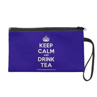 Keep Calm and Drink Tea Wristlet Purses