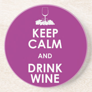 Keep calm and drink wine alcohol grapes glass fun drink coasters