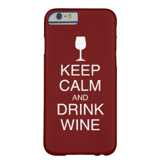 Keep Calm and Drink Wine Apple iPhone 6 Cases