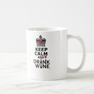 Keep Calm and Drink Wine Basic White Mug