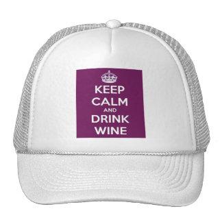 Keep Calm and Drink Wine Cap