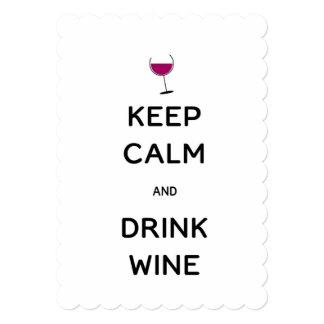 Keep Calm and Drink Wine Card