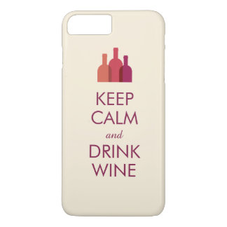 Keep Calm and Drink Wine Custom iPhone 7 Plus Case