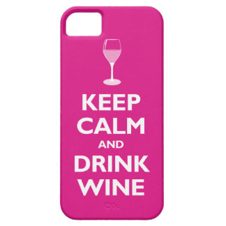 Keep Calm and Drink Wine hot pink iPhone 5 Covers