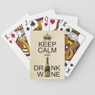 Keep Calm and Drink Wine Playing Cards