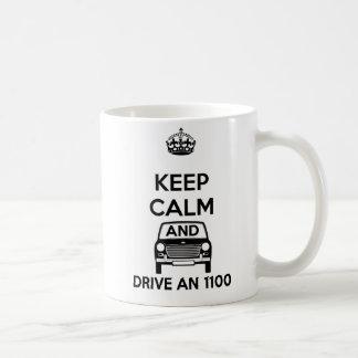 Keep calm and drive an Austin Morris 1100 Mug