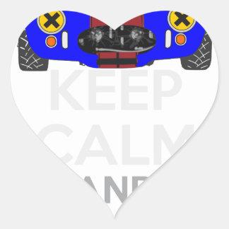 Keep Calm and Drive IT - cod. 1965Cobra427 Heart Sticker