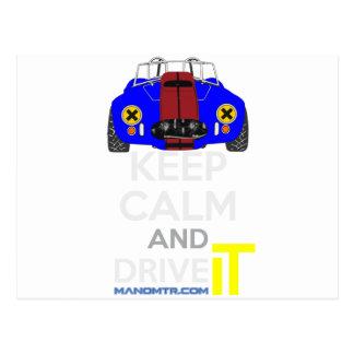 Keep Calm and Drive IT - cod. 1965Cobra427 Postcard