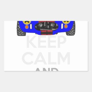 Keep Calm and Drive IT - cod. 1965Cobra427 Rectangular Sticker