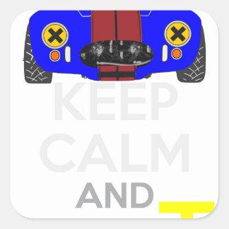Keep Calm and Drive IT - cod. 1965Cobra427 Square Sticker