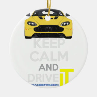 Keep Calm and Drive IT - cod. A-SVantageS Round Ceramic Decoration