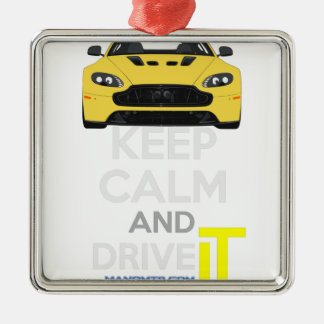Keep Calm and Drive IT - cod. A-SVantageS Silver-Colored Square Decoration