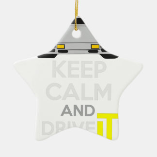 Keep Calm and Drive IT - cod. LCountach Ceramic Star Decoration