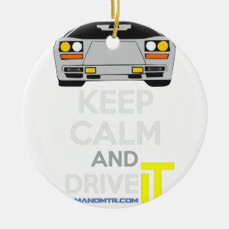 Keep Calm and Drive IT - cod. LCountach Round Ceramic Decoration