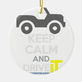 Keep Calm and Drive IT - cod:LDDefender Round Ceramic Decoration