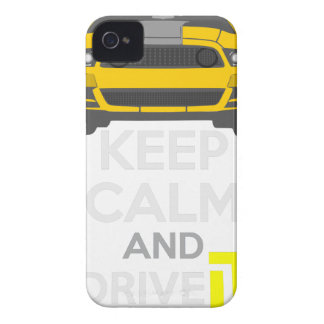 Keep Calm and Drive IT - cod. Mustang302Boss iPhone 4 Cases