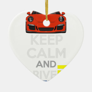 Keep Calm and Drive IT - codPRSC Ceramic Heart Decoration