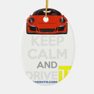 Keep Calm and Drive IT - codPRSC Ceramic Oval Decoration