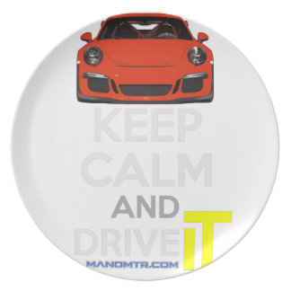 Keep Calm and Drive IT - codPRSC Party Plate