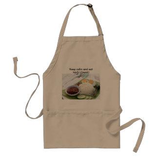 Keep calm and east nasi lemak standard apron