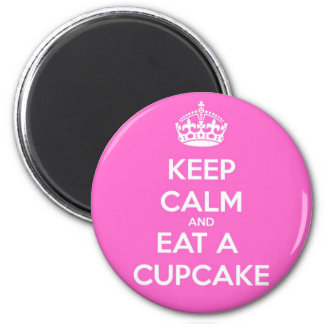 Keep Calm and Eat a Cupcake 6 Cm Round Magnet