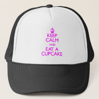Keep Calm and Eat a Cupcake Trucker Hat
