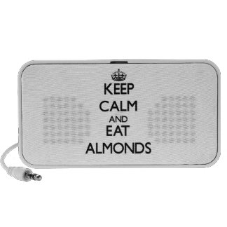 Keep calm and eat Almonds Travel Speaker