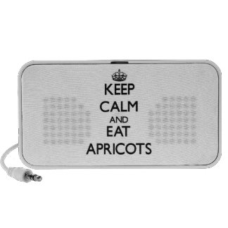 Keep calm and eat Apricots Laptop Speakers