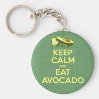 Keep Calm And Eat Avocado Key Ring