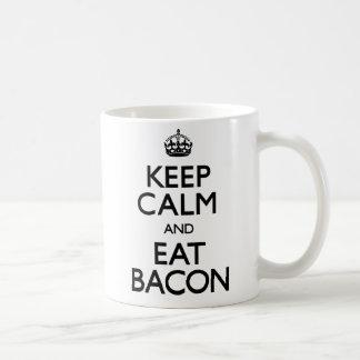 Keep Calm and Eat Bacon (Carry On) Coffee Mug
