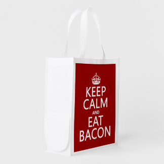 Keep Calm and Eat Bacon funny Market Tote