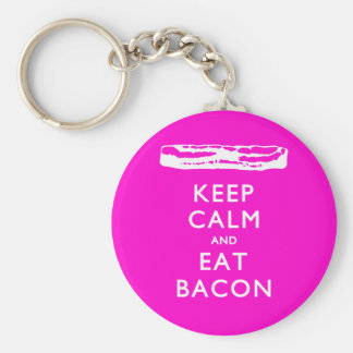 Keep Calm and Eat Bacon Keychains