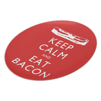 Keep Calm and Eat Bacon Plate
