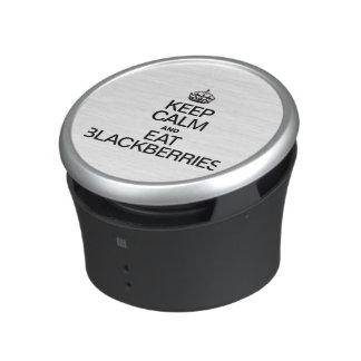 KEEP CALM AND EAT BLACKBERRIES.ai Bluetooth Speaker