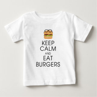 Keep Calm And Eat Burgers Baby T-Shirt