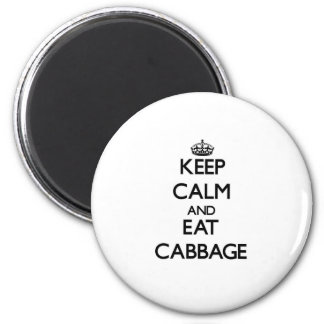 Keep calm and eat Cabbage 6 Cm Round Magnet