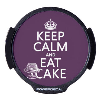 Keep Calm and Eat Cake LED Car Decal
