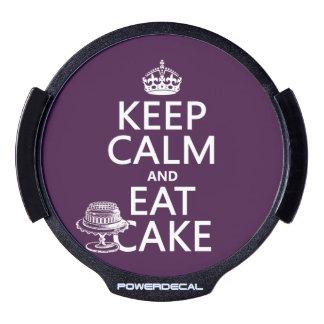 Keep Calm and Eat Cake LED Car Decal