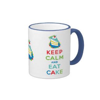 Keep Calm and Eat Cake Mugs